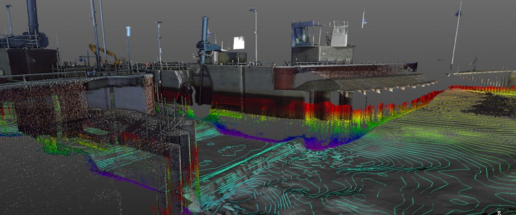 Above Water Laser Scan