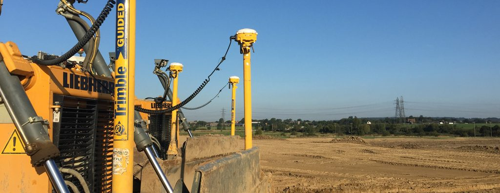 Machine control with Land and Satellite Surveys